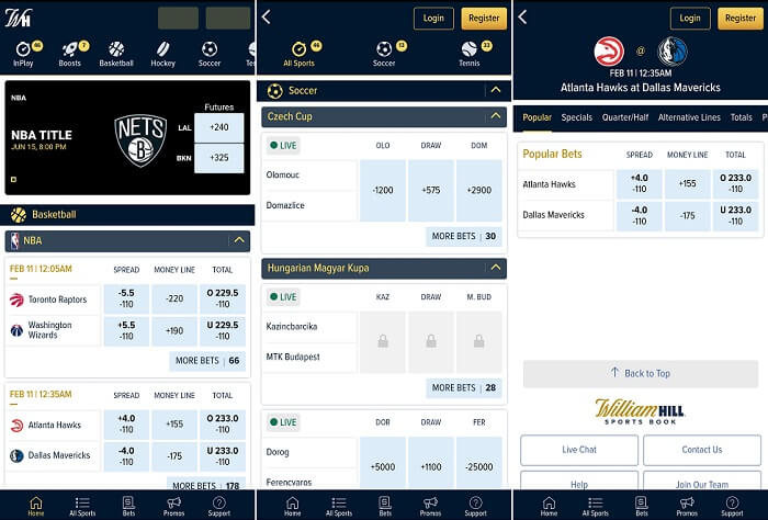 William Hill app Tennessee